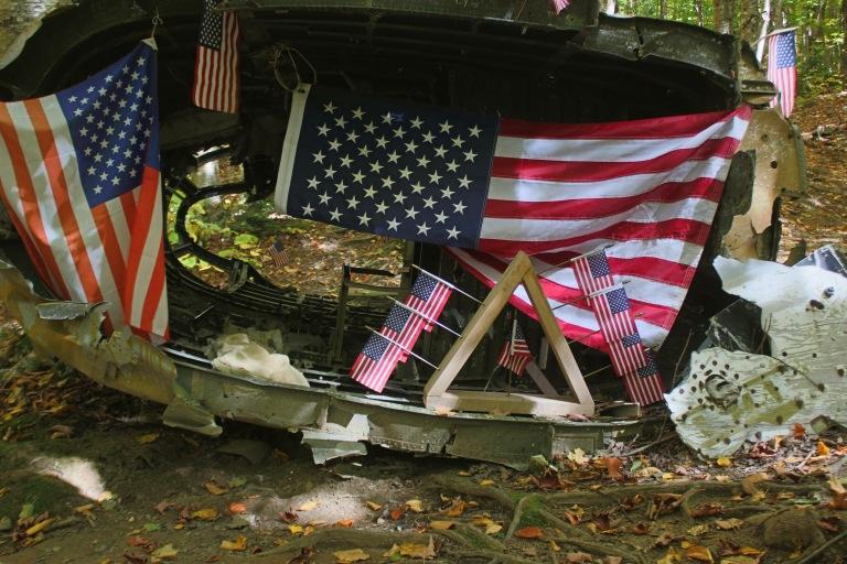 flag wreckage