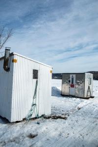 ice shacks